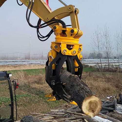 rotating-wood-grapple-forestry-machinery-grapple-Excavator-attachments